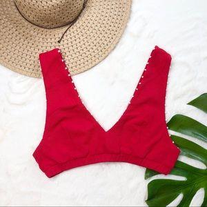Marysia French Gramercy red bikini top